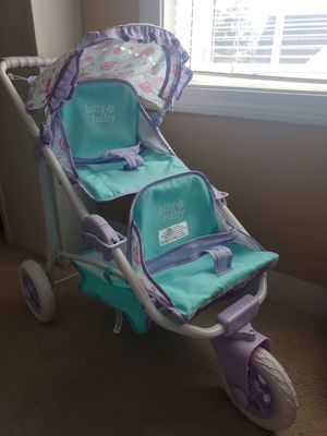 American Girl bitty baby double stroller for Sale in Whitman, MA