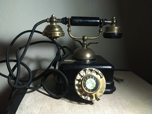 Japanese Antique French Victorian Style Gold Black Rotary Phone for Sale in Anaheim, CA