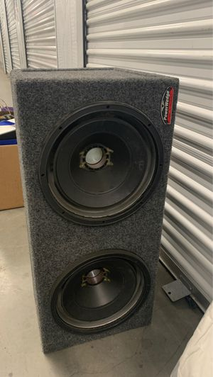 """JL Audio power wedge 12"""" subwoofer 🔊 box 📦 for Sale in Sylmar, CA"""