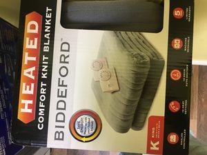 Biddeford Blankets Comfort Knit Fleece Heated Electric Blanket, King, Gray for Sale in Garland, TX