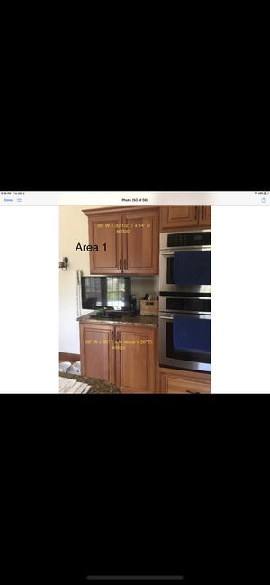 Kitchen Cabinets, 3 appliances, granite countertops for Sale in Danvers, MA