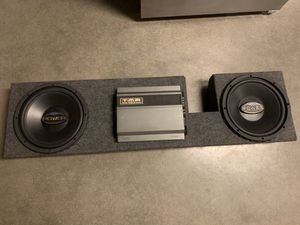 2 12 subwoofers amp chevy/gmc/ford DONT WASTE MY TIME for Sale in Fowler, CA