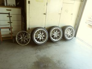 3 BBS rims and low pro tries. for Sale in Los Alamitos, CA