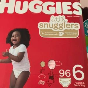 Huggies Little Snugglers Size 6 Diapers-pañales for Sale in Downey, CA