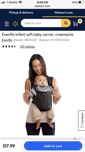 Evenflo baby carrier for Sale in Stafford, TX
