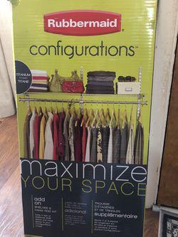 Rubbermaid Add On Shelves & Hang Rod Kit for Sale in Seattle,  WA
