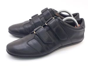 GUCCI WOMENS SNEAKERS SIZE US 8 BLACK LEATHER CASUAL SHOES STRAPS MADE IN ITALY for Sale in Hayward, CA