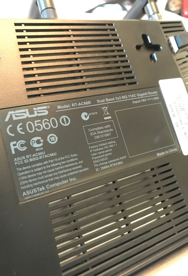 ASUS Dual Band 3*3 Router (Model: RT-AC66R)