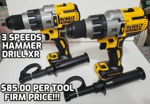 DeWalt DCD996b XR BRUSHLESS 20V. 3 speeds hammer drill bare tool only, $85.00 per tool FIRM PRICE!!! for Sale in Lake Worth, FL