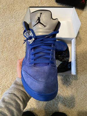 Jordan 5 blue suede size 12 for Sale in Blacklick, OH