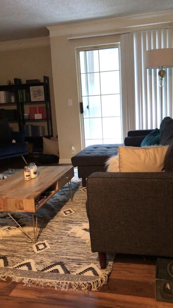 Charcoal Gray Sofa With Chaise
