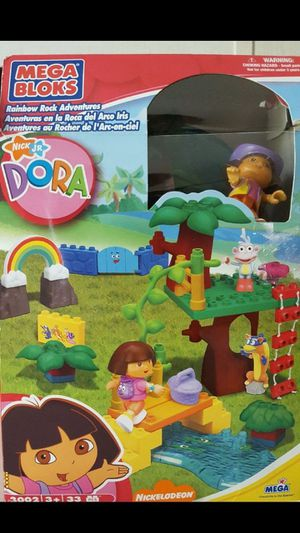 Dora Doll Backpack Mega Bloks and Blanket..Please check my other offers. l have more kids toys. for Sale in Kissimmee, FL