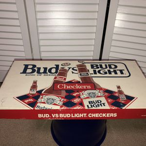 Budweiser Vs. Bud Light Checkers for Sale in Chino, CA