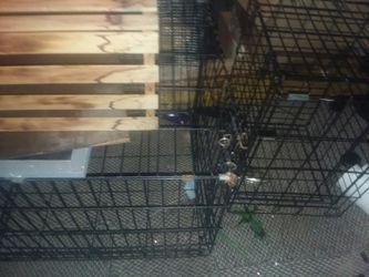 Dog cages 35 for both for Sale in LAUREL PARK,  WV