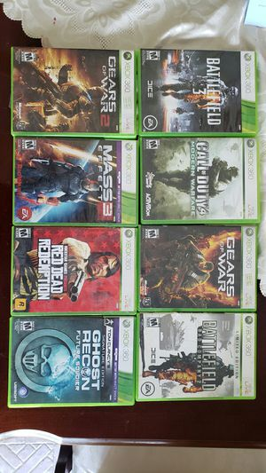 Xbox 360 games call of duty battlefield red dead redemption gears of war frontier for Sale in Ontario, CA