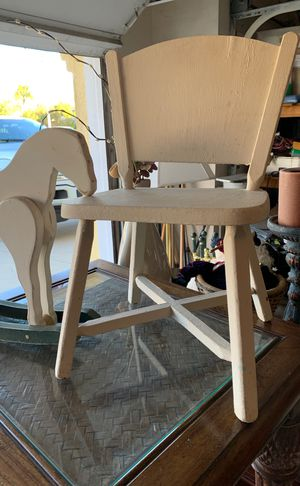 Kids decor chair and rocking horse for Sale in Murrieta, CA