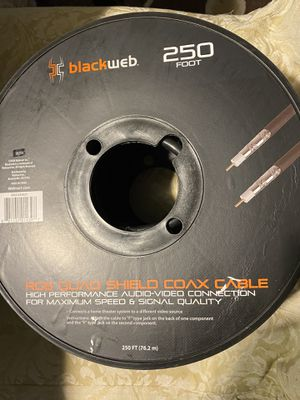 Blackweb Rg6 Quad Shield Coaxial Cable 250ft for Sale in Albuquerque, NM