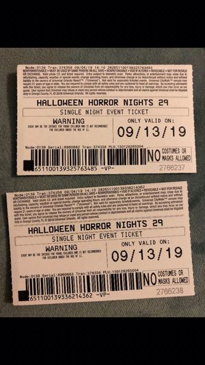 Halloween horror night universal for Sale in Orlando, FL