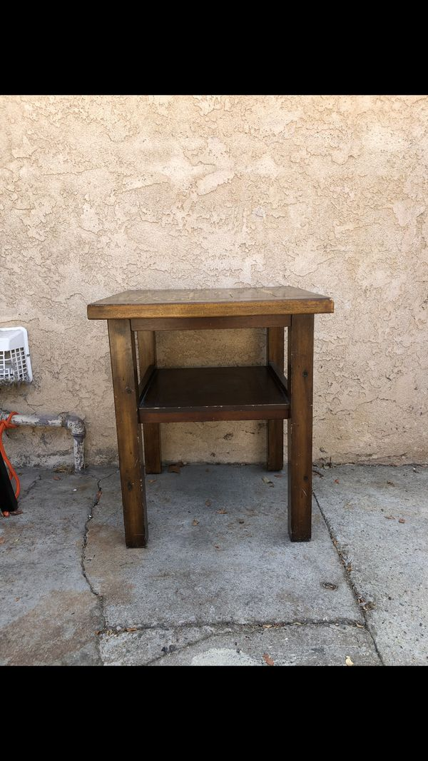 Small Wood Rustic Side Table