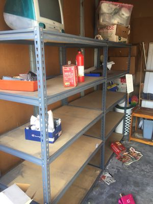 Metal shelving 4 pieces for Sale in Portola Valley, CA