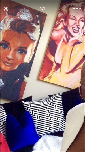 Portrait Marilyn Monroe and Audrey Hepburn for Sale in Smyrna, GA