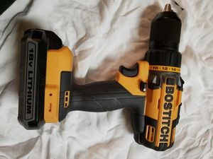 BOSTITCH BTC400 1/2in 18v drill driver with battery 18v for Sale in Orlando, FL