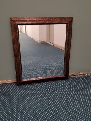 """LIGHTWEIGHT, FAUX-WOOD FRAMED, BEVELED GLASS MIRROR - 28.5"""" x 24.5"""" x .5"""" - firm price. for Sale in Arlington, VA"""