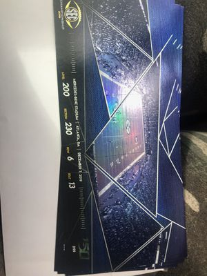 SEC championship tickets Sat. Dec. 7th LSU vs GA for Sale in Savannah, GA