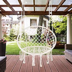 BRAND NEW Hanging Hammock Chair Swing Indoor Outdoor Bedroom Porch Deck Patio Backyard Camping for Sale in Chandler, AZ
