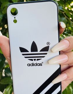 Brand new cool iphone XR case cover silicone rubber Adidas Black And White Hypebeast for Sale in San Bernardino,  CA