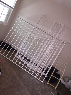 White bunk bed for sale, already took apart. Includes all bolts and screws . Full over twin size for Sale in Atlanta, GA