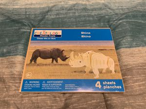 Brand New Rhino Wooden Puzzle for Sale in Apple Valley, CA