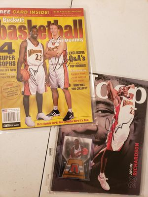 Signed Jason Richardson and Mike Dunleavy Golden State Warriors NBA basketball magazines for Sale in Gresham, OR