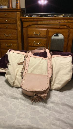 2 piece Victoria Secret rose colored bags small purse and tote bag for Sale in Chula Vista, CA