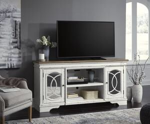 Realyn Chipped White XL TV Stand | W743-68 for Sale in Austin, TX