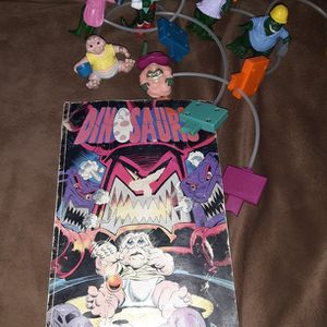 Vintage McDonald's Dinosaur TV Show Pump n Move Toys & 1993 48pg Comic Book for Sale in Los Lunas, NM