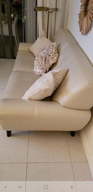 **PRICE DROP** Kemp Nicole Leather Sofa for Sale in West Palm Beach, FL