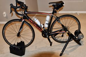 Specialized Roubaix SL4 (54cm) w/Cycle Ops Power ProSeries Trainer, Garmin Edge 520 & Accessories for Sale in Glyndon, MD