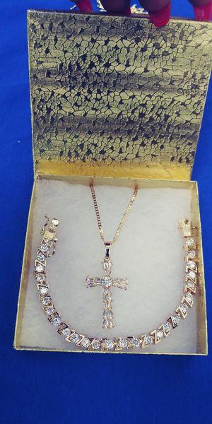 🚚💨I deliver🚀I Ship...😍😍14kt 💎Gold filled 💦 Necklace and bracelet 🌟🌟🌟🌟🌟 for Sale in Fort Lauderdale, FL