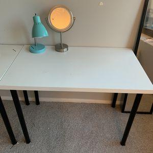 IKEA white desk big and convenient! for Sale in Chicago, IL