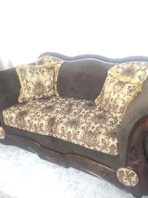 3 piece set couches/ 3 piece set tables for Sale in Glendale, AZ