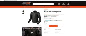 REVit Akira vintage perforated jacket with back protection eu size 56 motorcycle gear for Sale in Burbank, IL