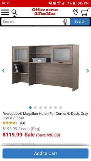 Realspace® Magellan Hutch For Corner/L-Desk, Gray for Sale in Chula Vista, CA