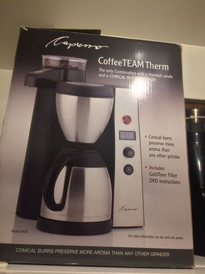 Capresso Coffee Maker With Grinder for Sale in Los Angeles, CA