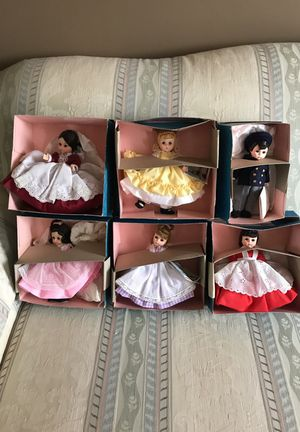 """Madame Alexander Dolls Little Women Marmee, Jo, Meg, Beth, Amy, and Laurie Little Men 8"""" 1974- 1981 new in box for Sale in Bristow, VA"""