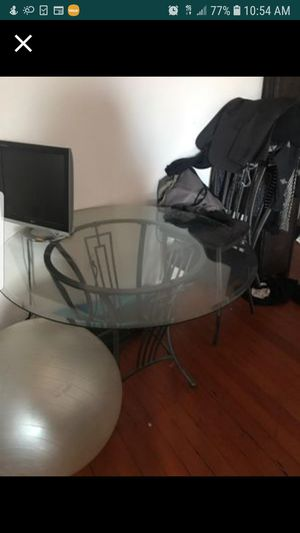 Glass kitchen table with chairs for Sale in La Mesa, CA