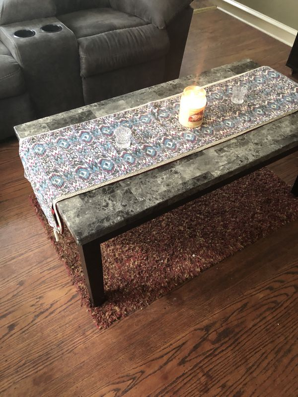 Coffee tables and bar stools