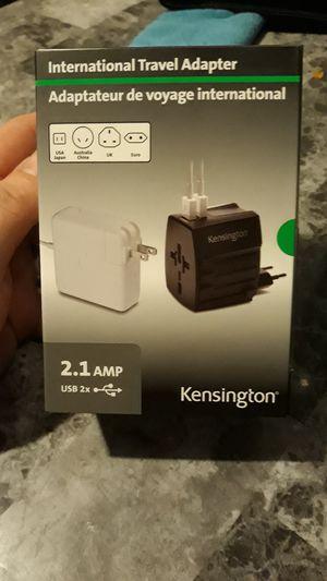 Kensington International Travel Adapter 2.1 AMP USB 2x for Sale in Holyoke, MA