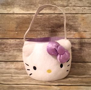 Hello Kitty Plush Easter Basket with Purple Bow for Sale in Houston, TX