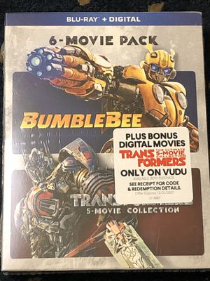 BUMBLEBEE & TRANSFORMERS (5)-MOVIE COLLECTION BLU-RAY + DIGITAL SEALED for Sale in Countryside, IL